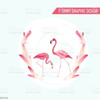 Tropical Graphic Design Flamingo Birds Tropical Background
