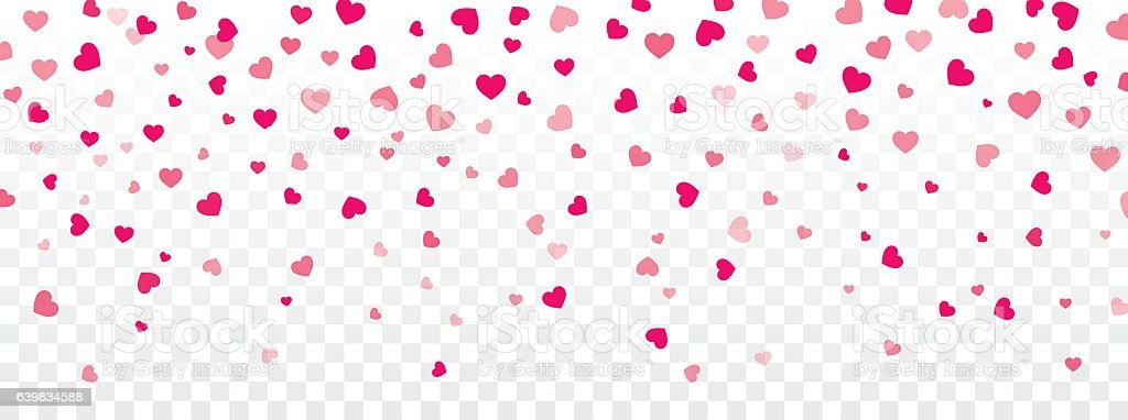 Falling Rose Petals Wallpaper Valentine Background With Hearts Falling On Transparent