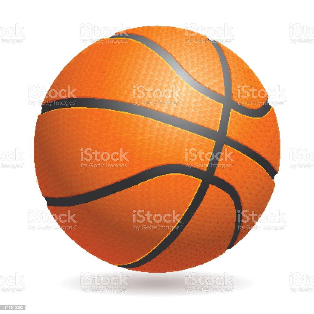 Basketball Ball Vector 3d Basketball Isolated Ball On White Background Realisti