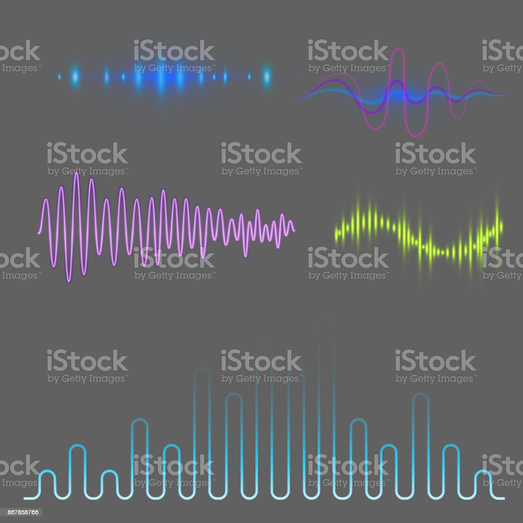 Musik Visualisierung Vektor Digitale Musik Equalizer Audio Wellen Design Vorlage