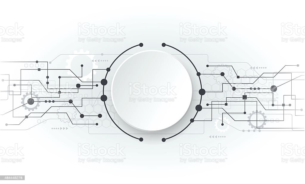 circuit board abstract circular background