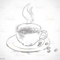 Vector Sketch Hand Drawn Cup Of Coffee Stock Vector Art ...