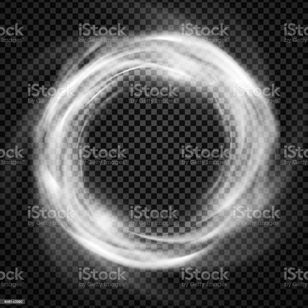Vector Smoke Ring Light Effect With Trasparency Stock