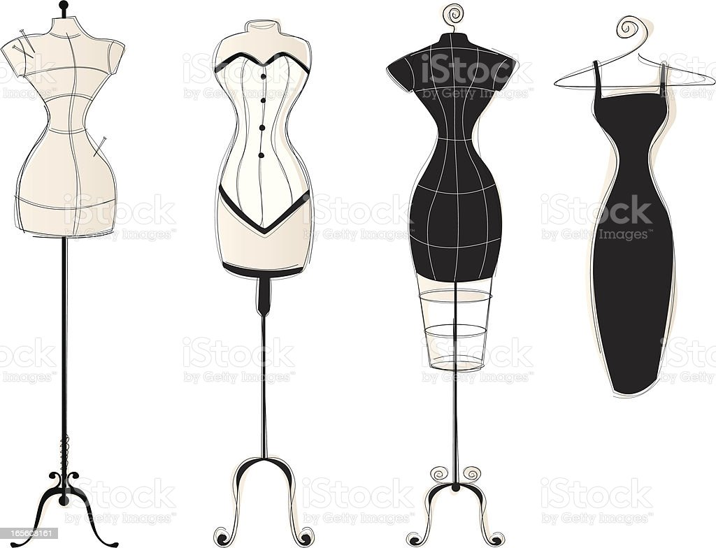 Royalty Free Dress Form Mannequin Clip Art Vector Images