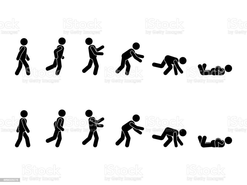 stick figure stick man falling clip art at vector clip art