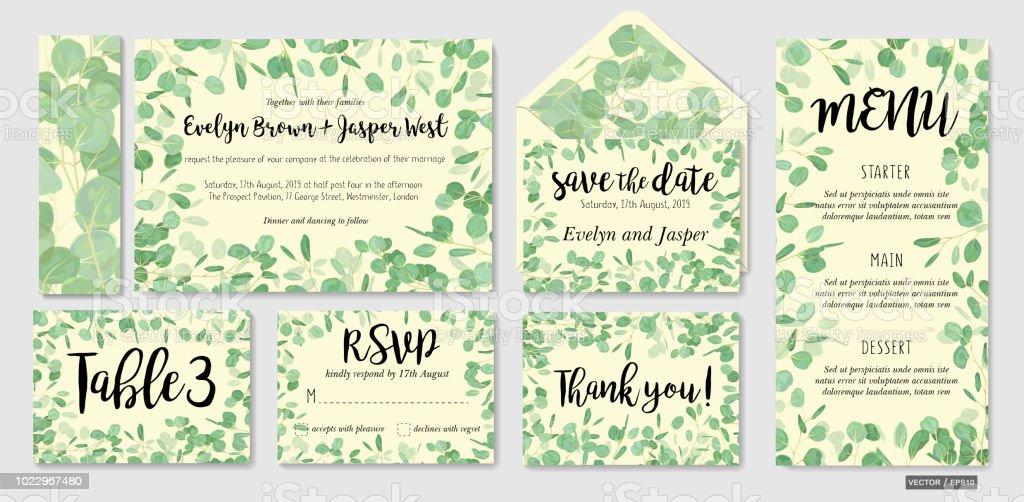 Ilustracao De Convite De Casamento Convite Menu Envelope