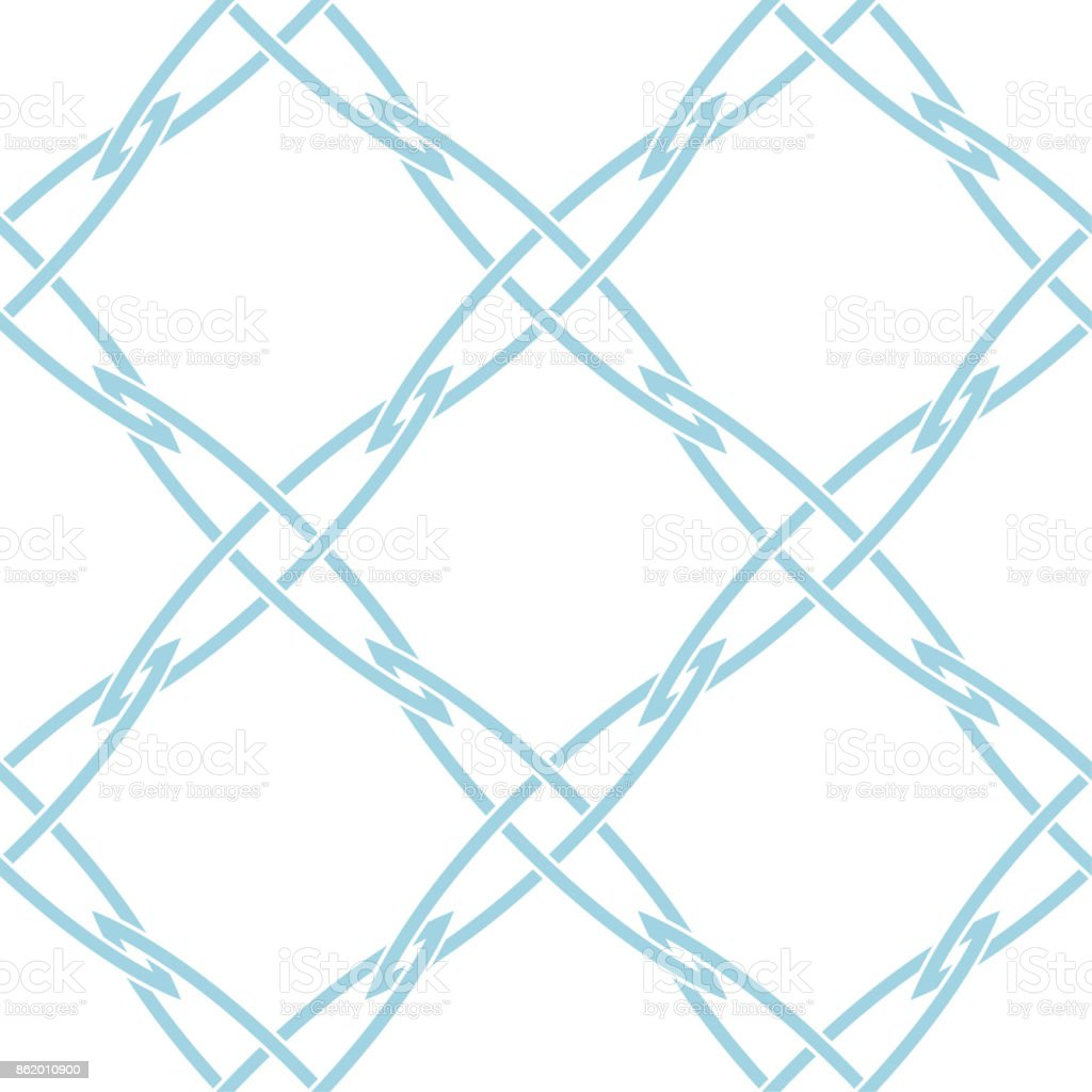 Geometrique Bleu White And Blue Geometric Ornament Seamless Pattern For Web Textile