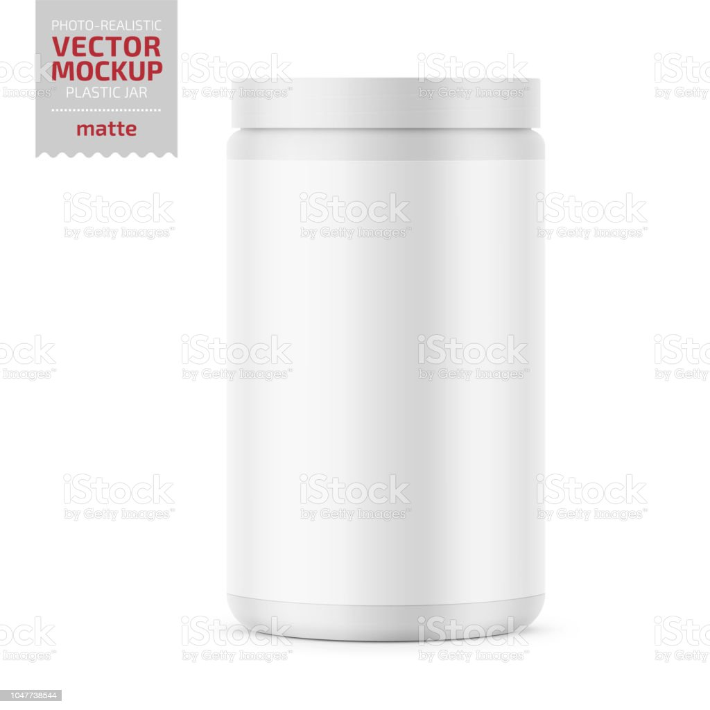 Bocal En Plastique Avec Couvercle White Glossy Plastic Jar With Lid For Sport Powder Protein