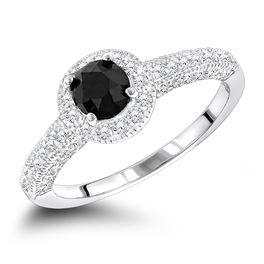 Captivating Women Black Diamond Engagement Rings 14k G Ring 103ct P 45885 Wh Black Diamond Engagement Rings Ebay Black Diamond Engagement Rings wedding rings Black Diamond Engagement Rings