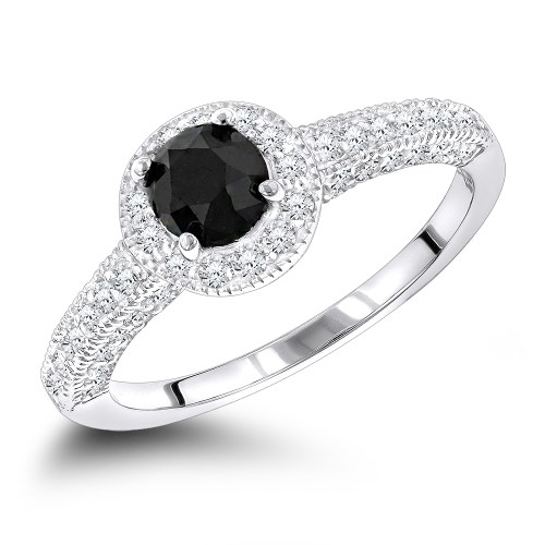 Medium Of Black Diamond Engagement Rings