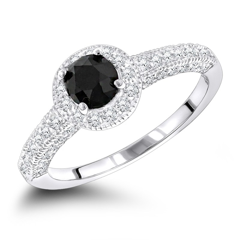 Large Of Black Diamond Engagement Rings