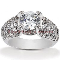 Diamond Platinum Engagement Ring Setting 1ct