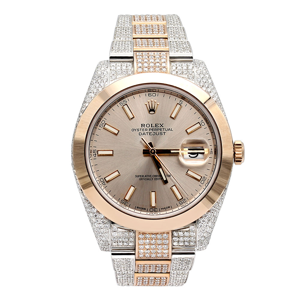 Rolex Oyster Perpetual Rose Gold Mens Diamond Rolex Datejust Two Tone Rose Gold Watch Oyster Perpetual 40mm