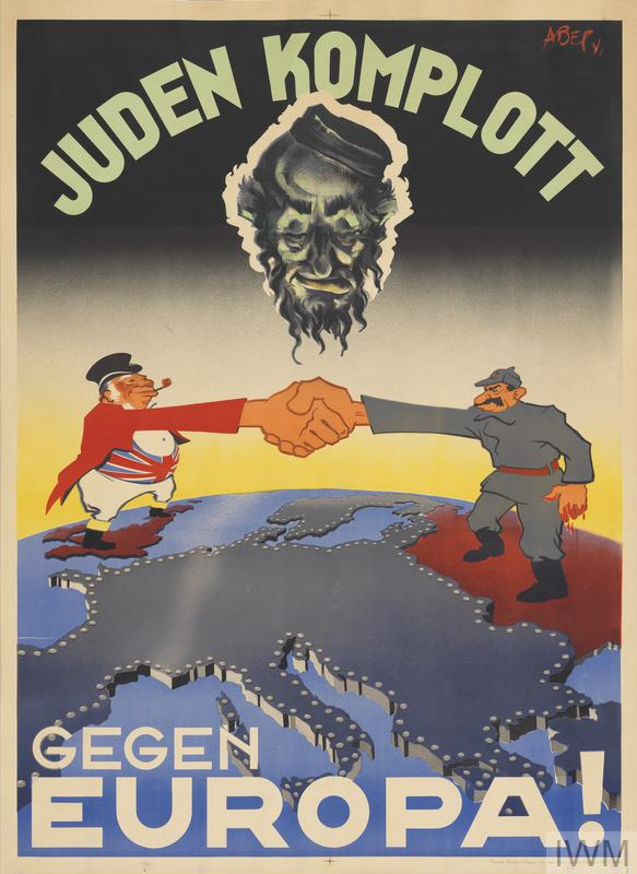 Large Frame For Poster Juden Komplott Gegen Europa Jewish Plot Against Europe