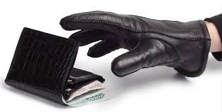 Stulen plånbok