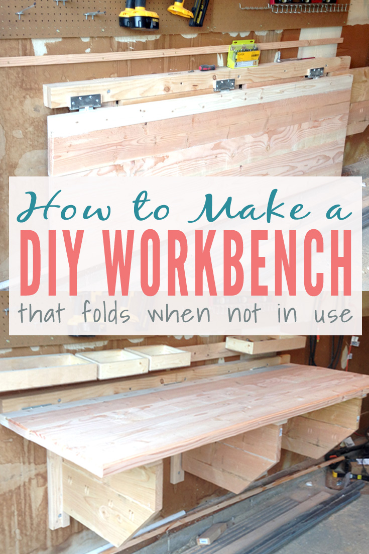Diy Folding Workbench Easy Instructions For Building A Floating Workspace