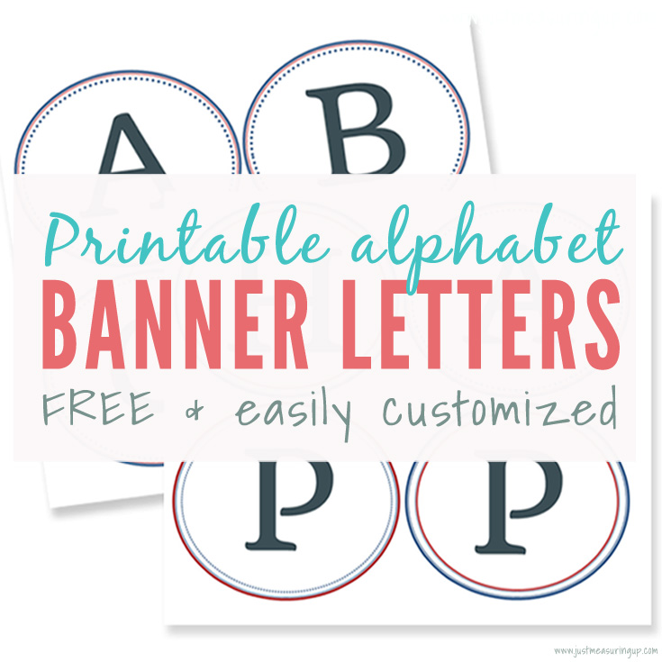 Free Printable Banner Letters Make Easy DIY Banners and Signs