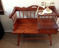 Antique Telephone Table With Chair | Antique Furniture