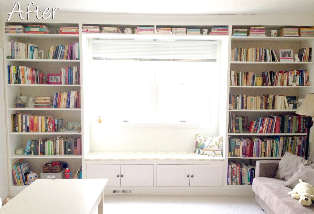Diy Built In Bookshelves How To Build A Window Seat