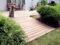 How to Make a Wood Walkway | Easy Boardwalk Tutorial for ...