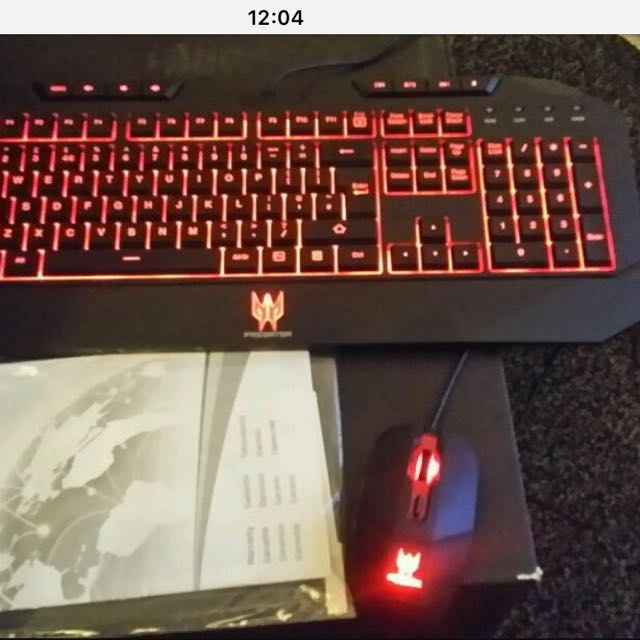 acer predator keyboard and mouse set new