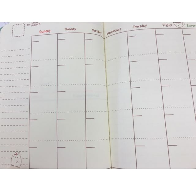 CLEARANCE Molang Unitoo Planner / Schedule Diary, Books  Stationery