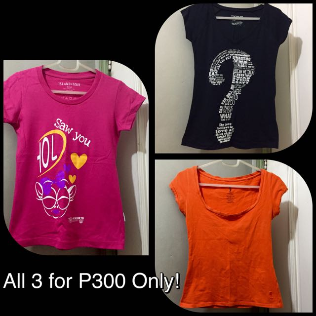 3 Shirts for Php 300 Only!, Women\u0027s Fashion, Clothes on Carousell