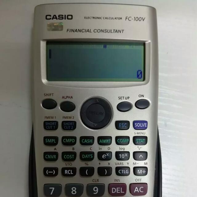 Financial Calculator Casio FC 100V, Electronics, Others on Carousell