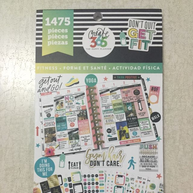 Happy Planner Sticker Book 1475pc FITNESS, Design  Craft, Craft