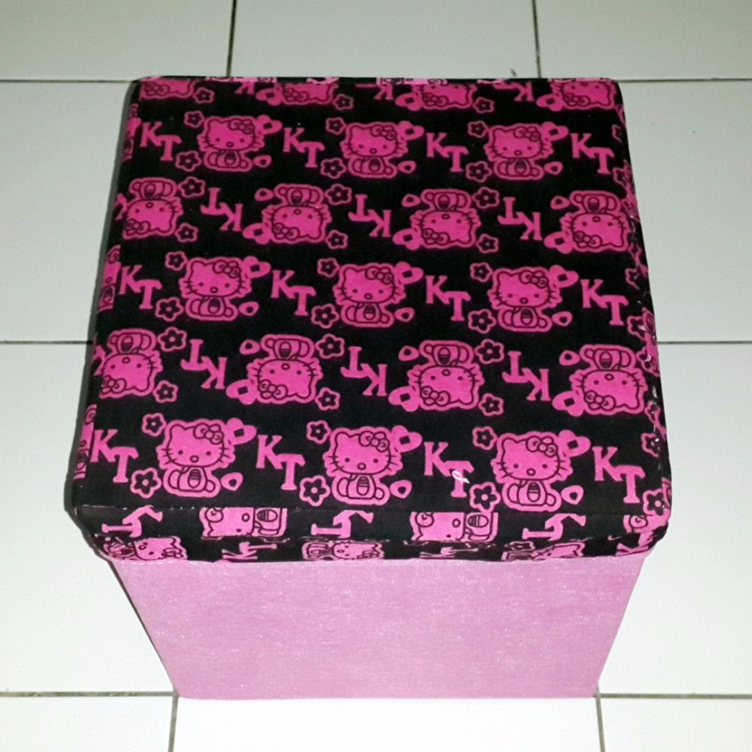Serba Hello Kitty Kotak Box Hello Kitty Serba Guna Bahan Beludru