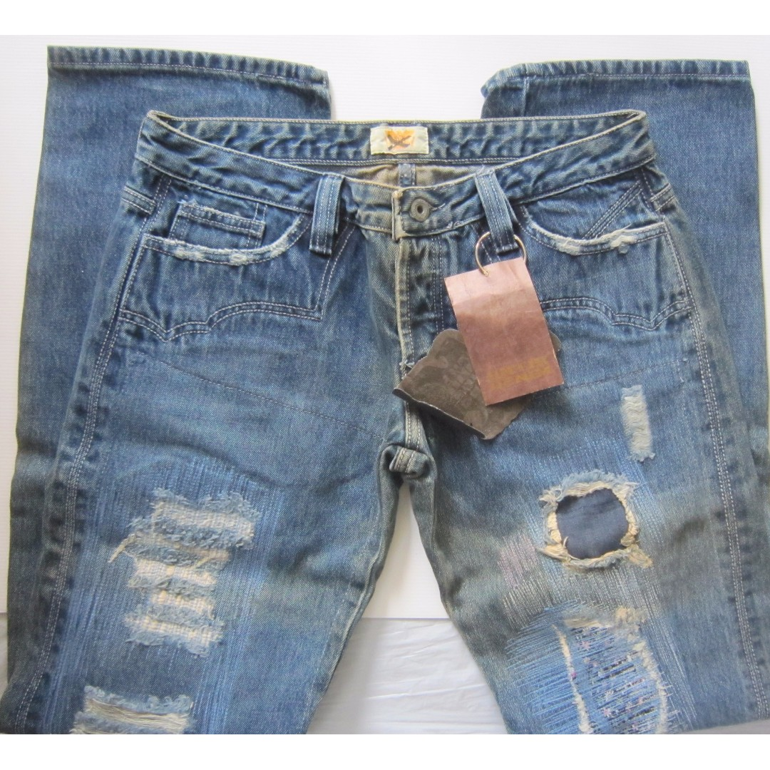 Antik Design Vintage Women S Antik Designer Denim Jeans Distressed Style Destroyed Look Made In Usa For The Rock Star For The Rocker Size 28 Waist 32 One