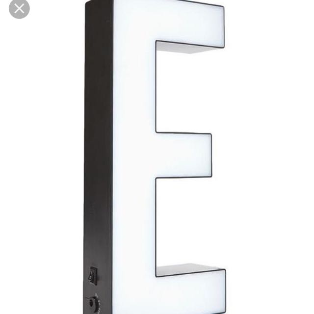 Typo Light Up Block Letter E Battery Operated Alphabet Marquee