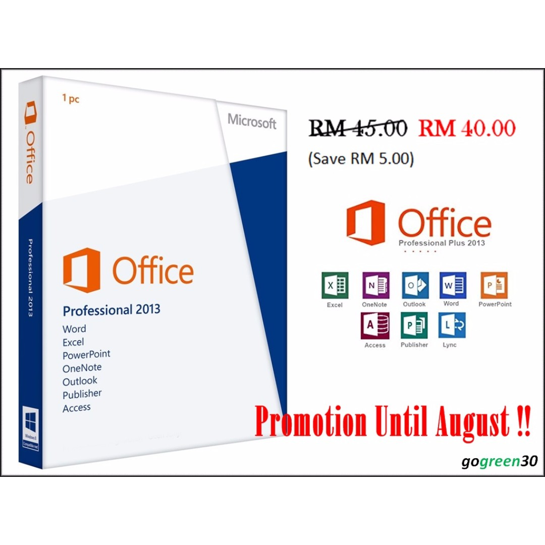 Microsoft Office 2013 Professional Plus Office 2013 Pro Plus 1 Key 1 Pc