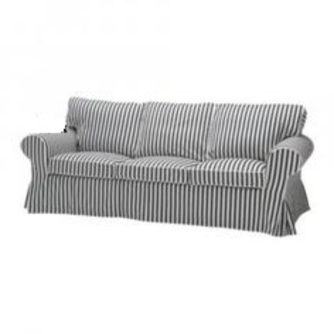Bettsofa Ikea Blau Ikea Ektorp 3 Seater Navy Blue Stripe Sofa Cover