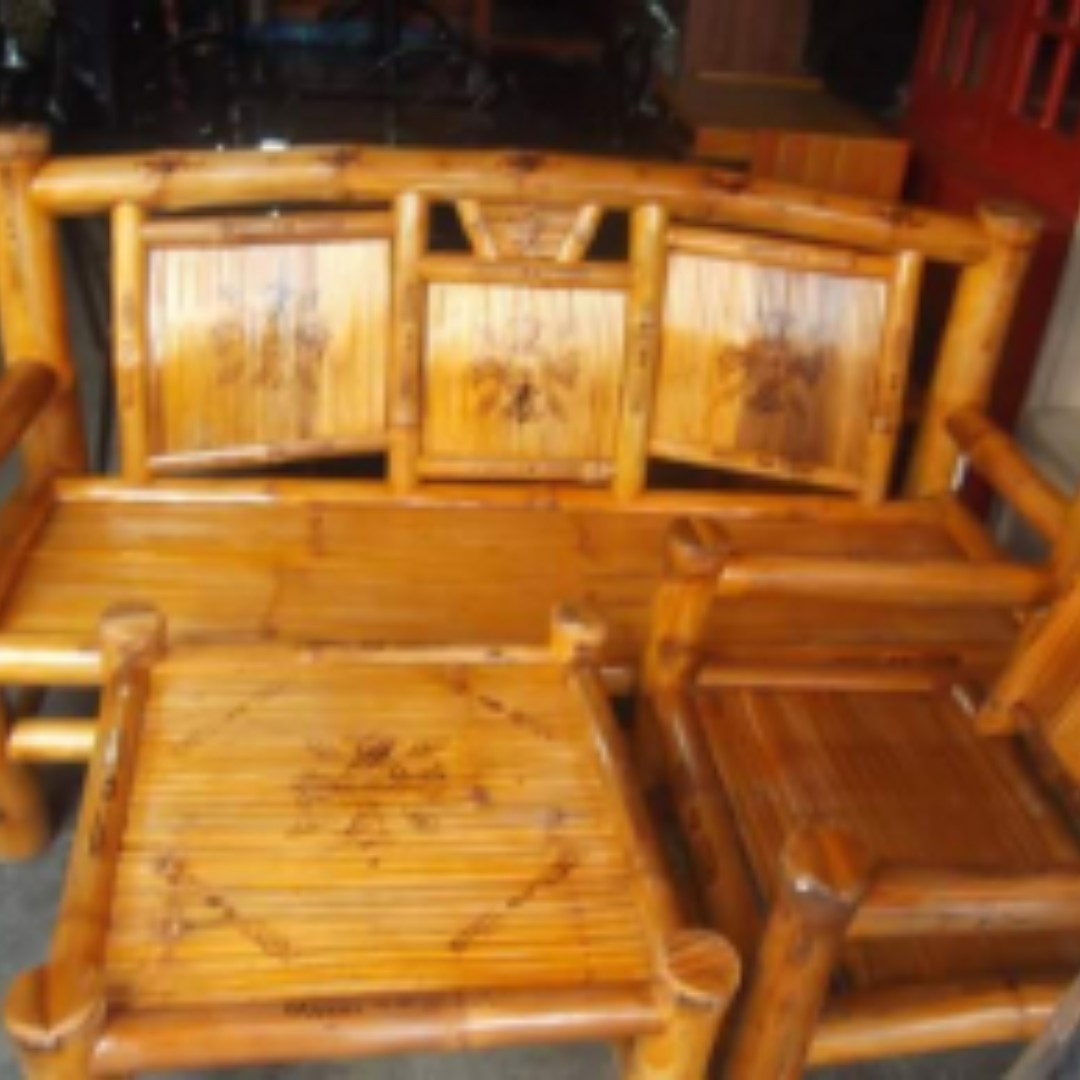 Bamboo Sala Set For Sale Bulacan Sala Set Bamboo Home And Furniture On Carousell