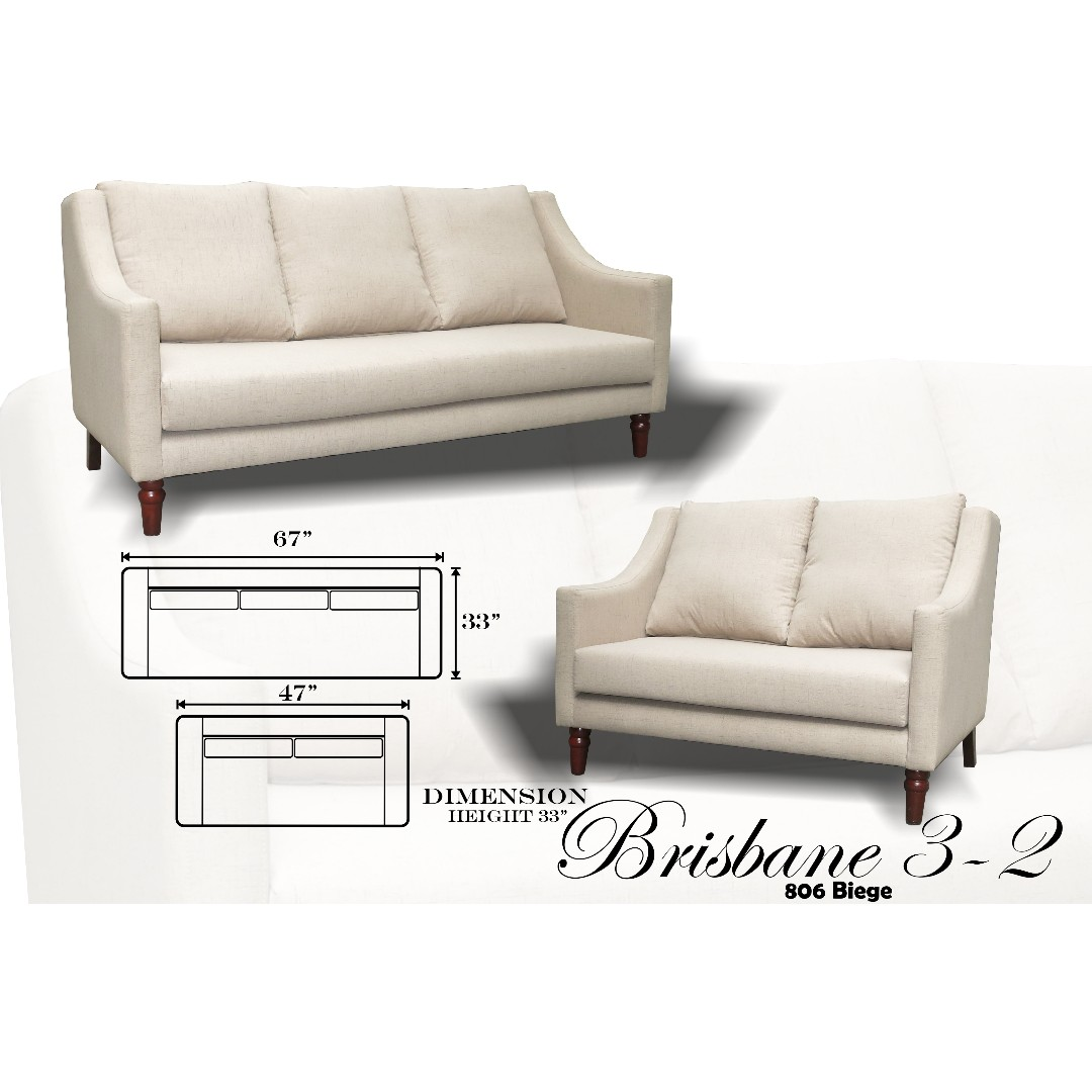 Sofa Brisbane Brisbane 3 2 Uratex Foam Sofa Set Sala Set
