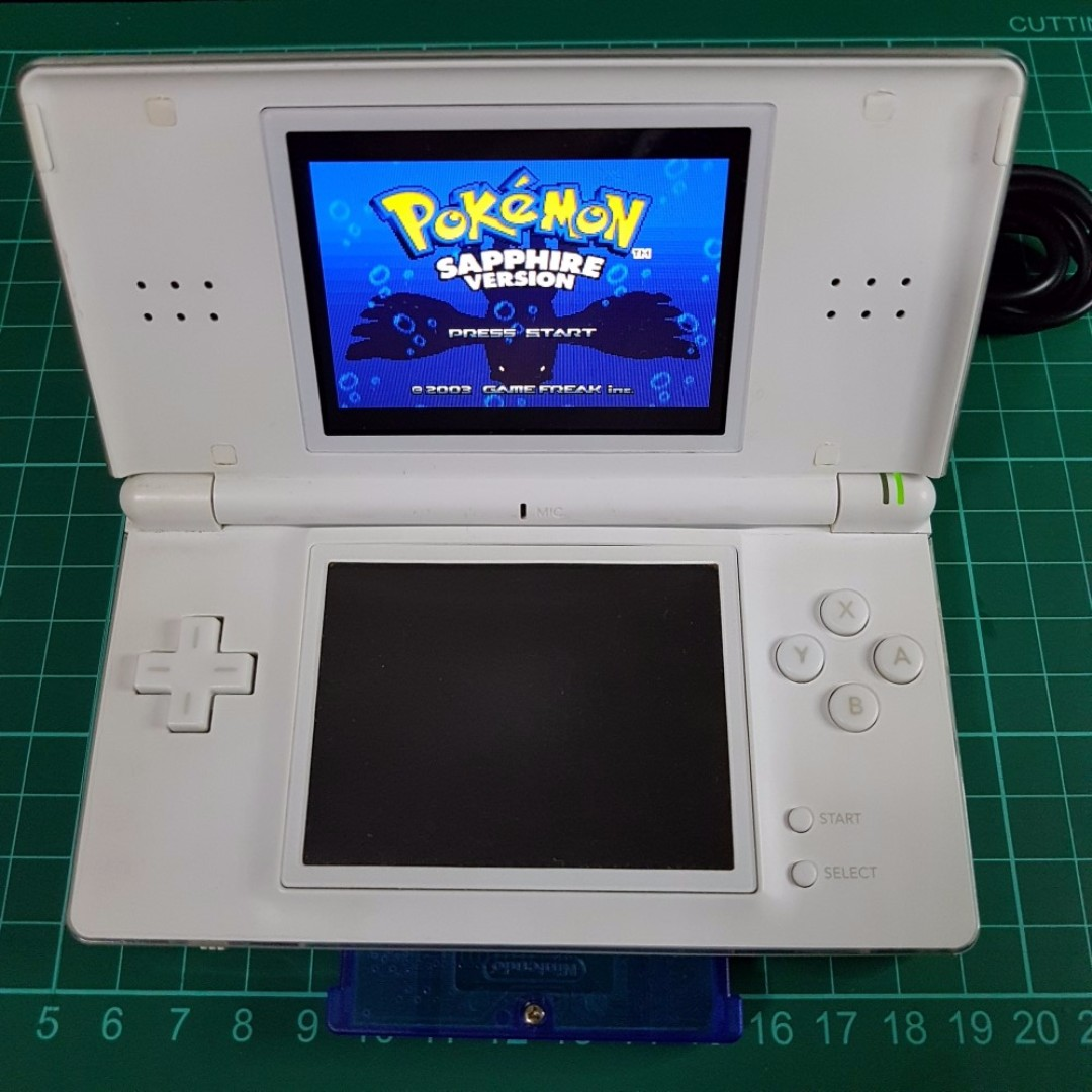 Pokemon Ds Nintendo Ds Lite With Pokemon Sapphire Version Gba Game