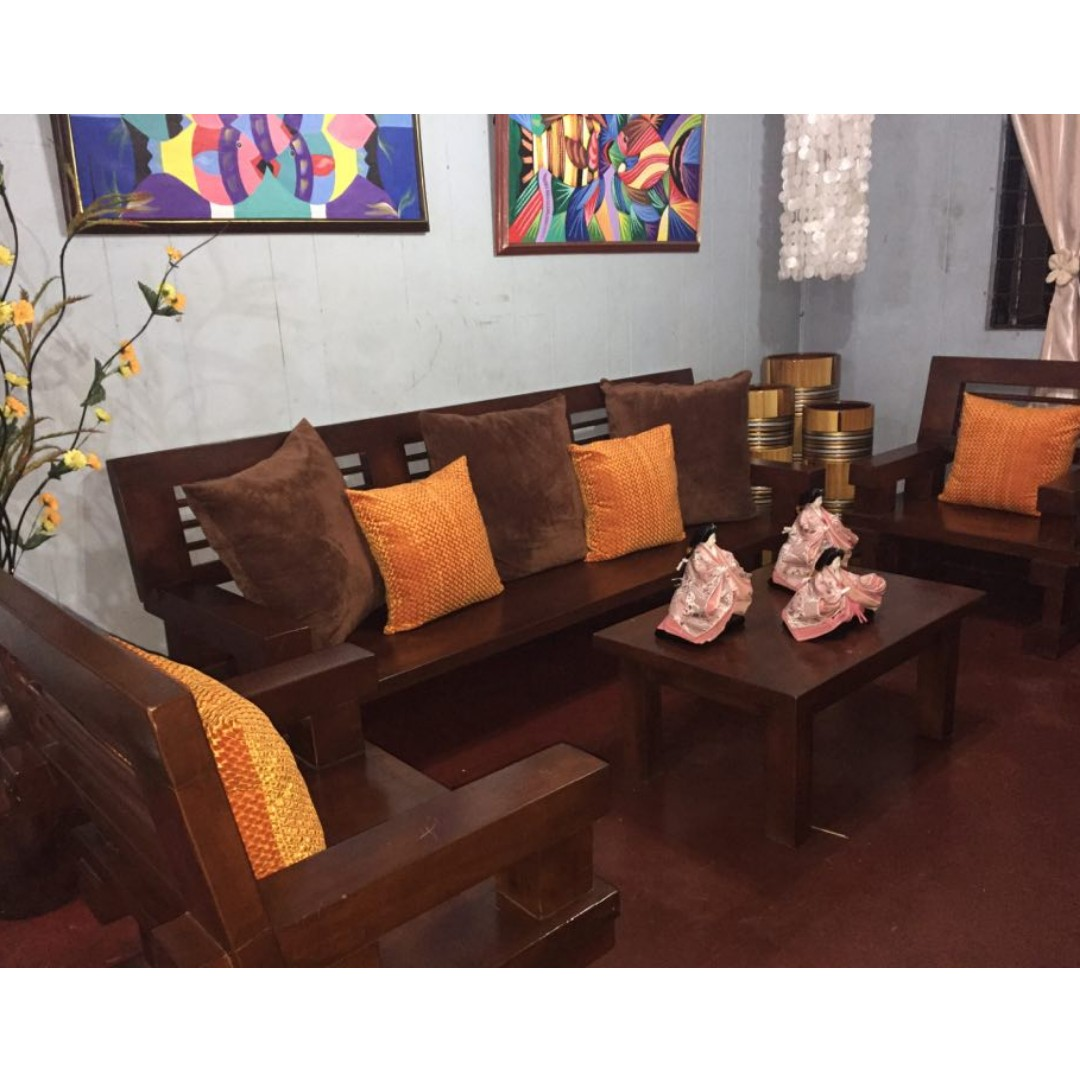 Wooden Sala Set Rizal Mahogany Sala Set Home And Furniture On Carousell