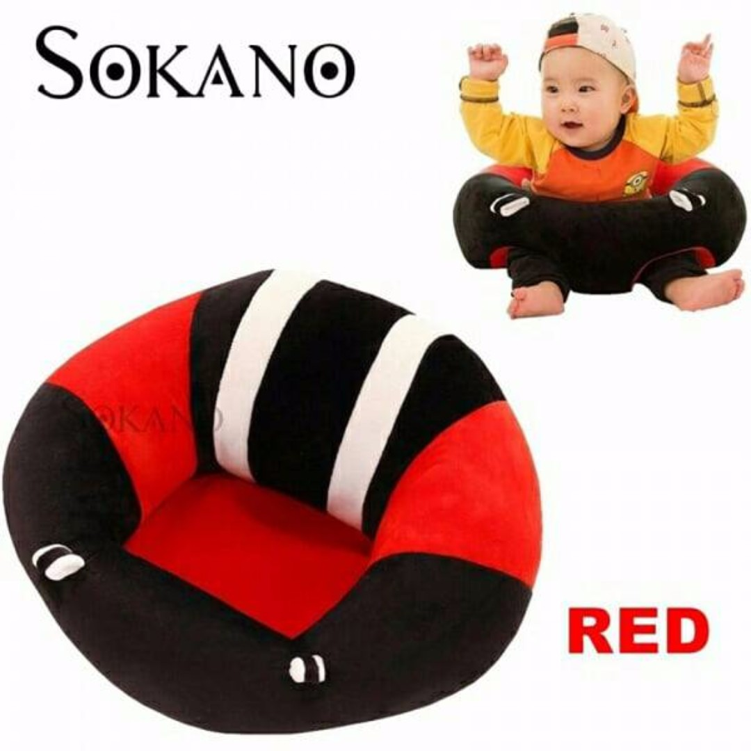 Infant Learning Chair Sokano Baby Learning Seat Dining Chair Cushion Nursing Pillow Red