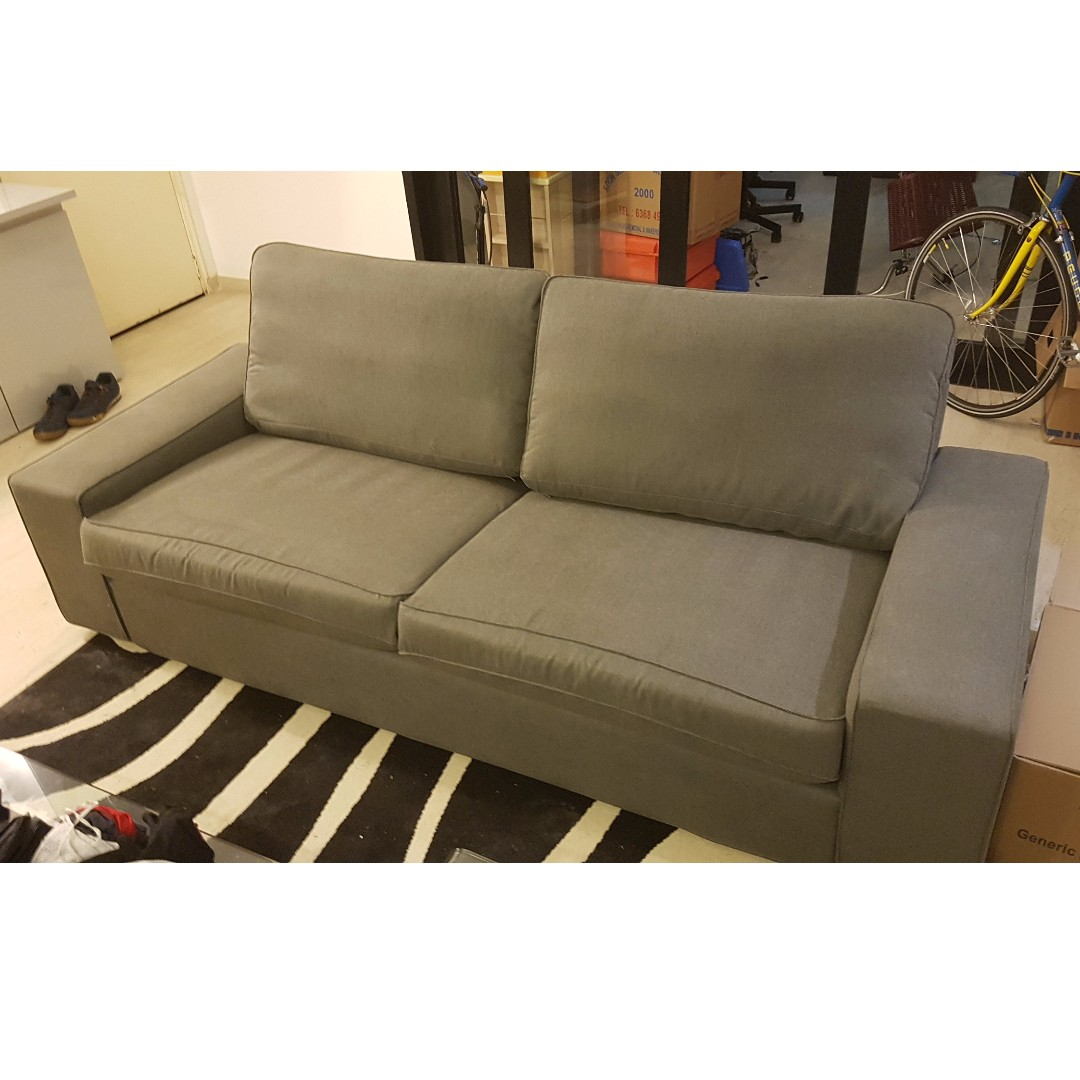 Kivik Sofa Ikea Test Sofa Ikea Kivik 3 Seater Furniture Sofas On Carousell