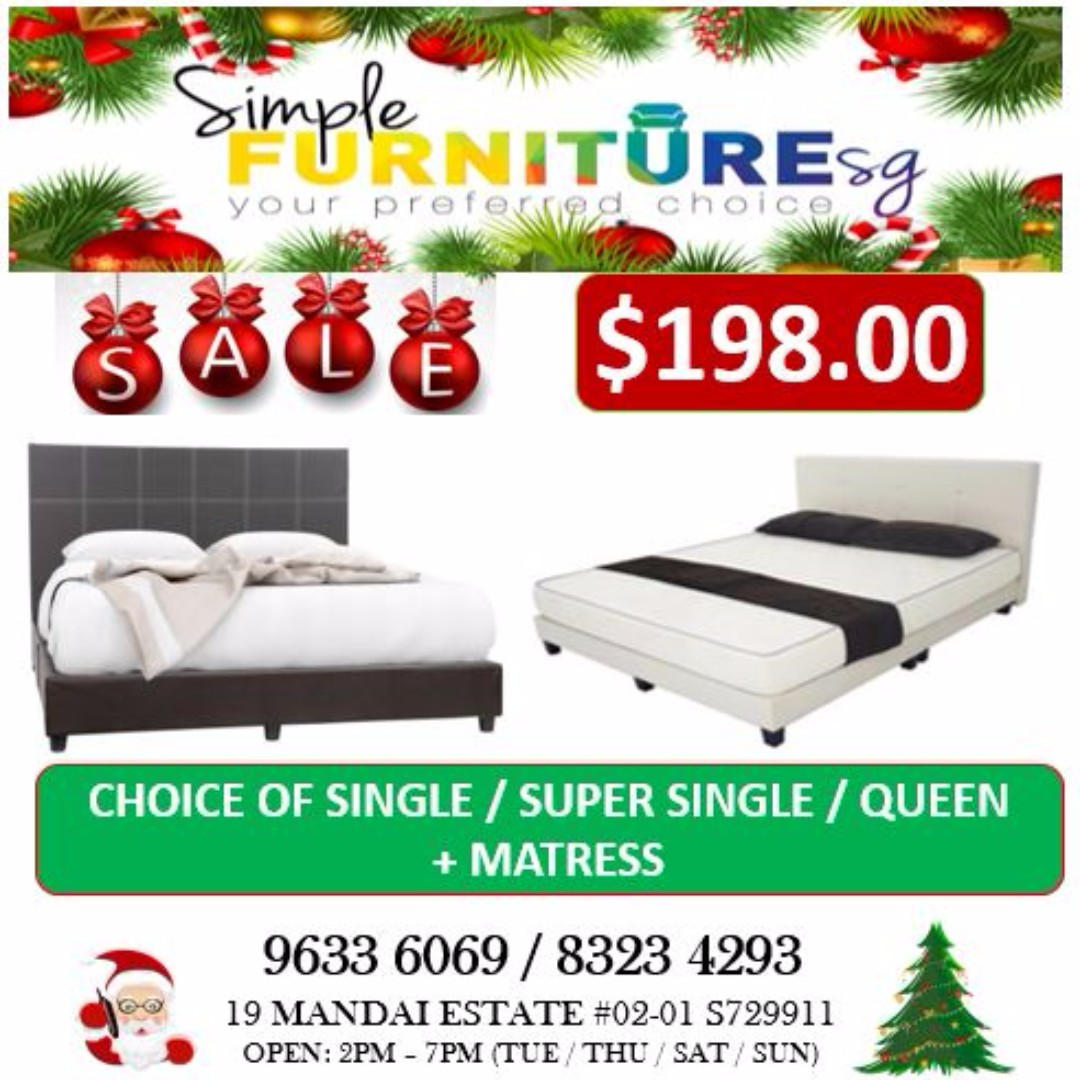 Single Bed Sale Christmas Sale Queen Super Single Single Bed