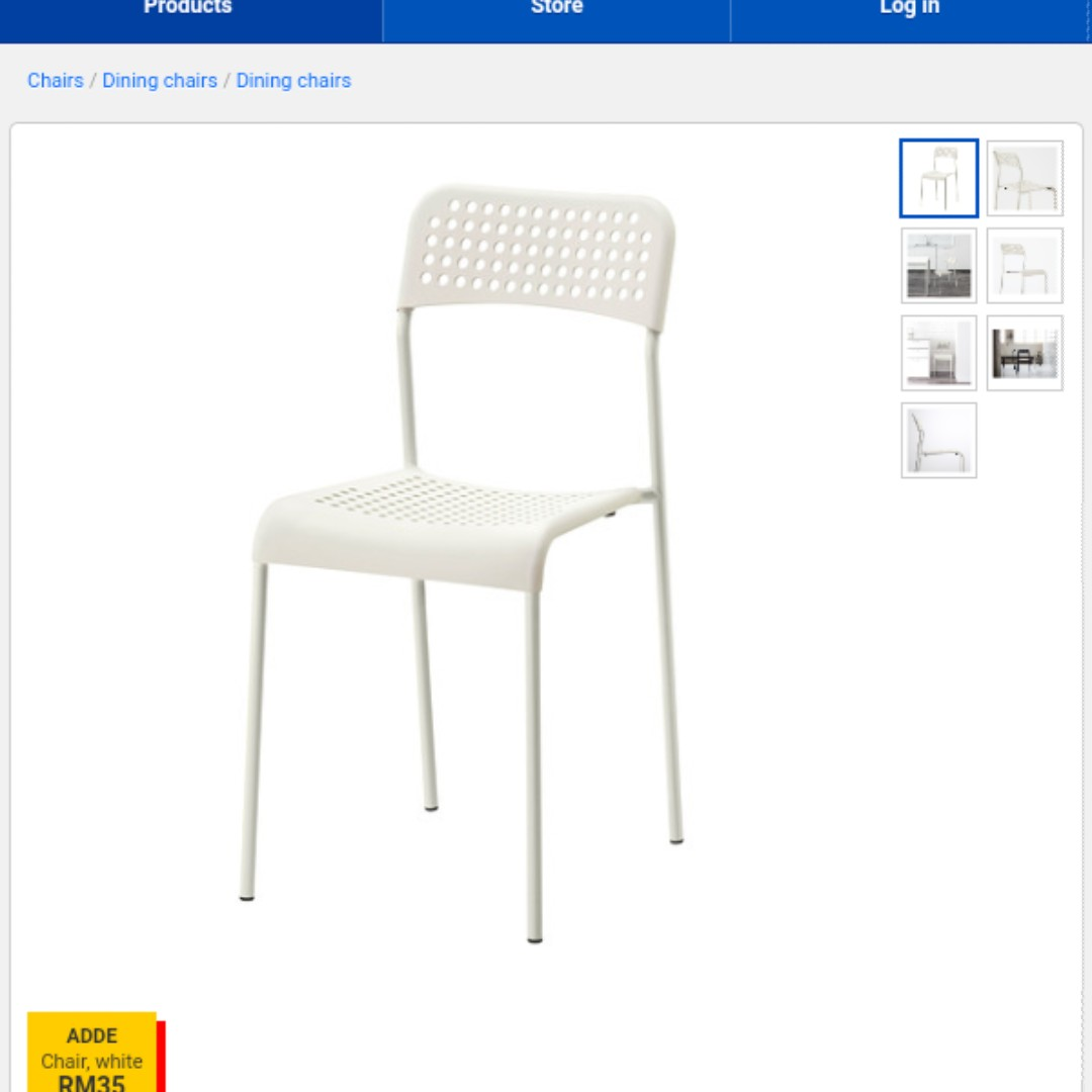 Dining Chairs Ikea 4pcs Dining Chair Ikea Adde
