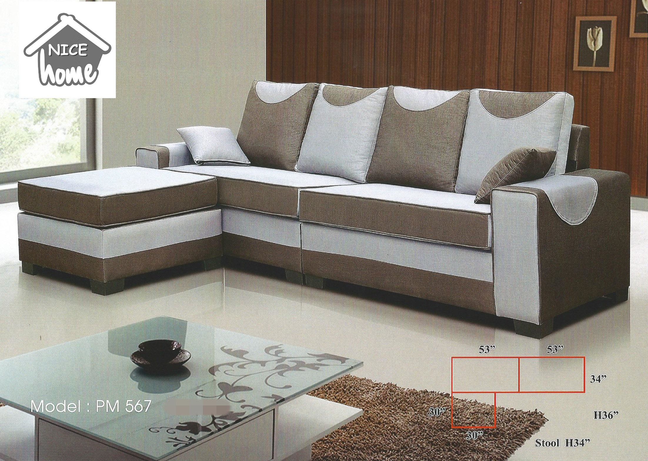 Sofa L Shape Untuk Ruang Tamu Kecil Low Price Installment Plan L Shape Sofa Model 567