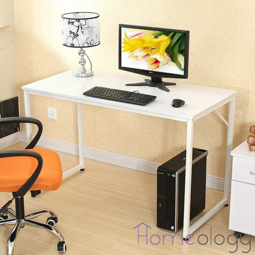 Modern Compact Computer Desk White Modern Study Computer Table Office Study Desk