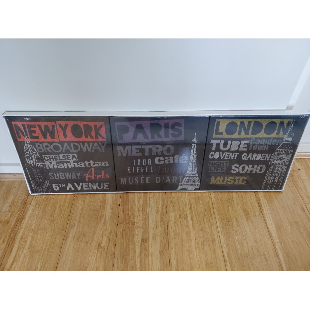 New York Poster Ikea Ikea Canvas Prints Set Of 3 Home Furniture Home Decor