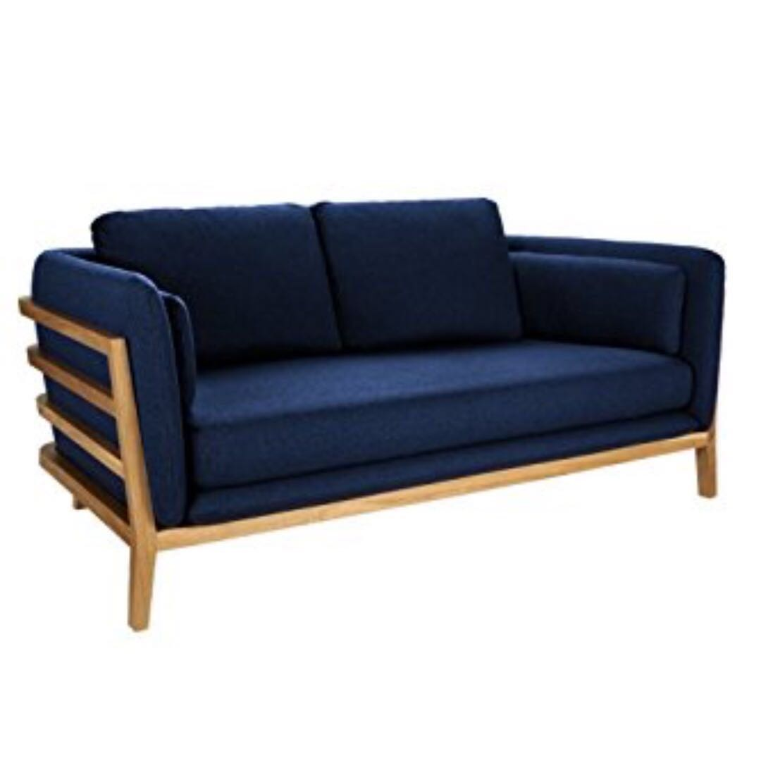 Habitat Sofa Habitat Boat Fabric Sofa 3 Seater Navy Blue