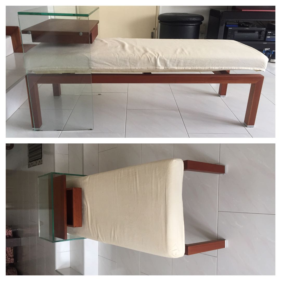 Glass Side Table With Drawer Coppersim 39s Items For Sale On Carousell