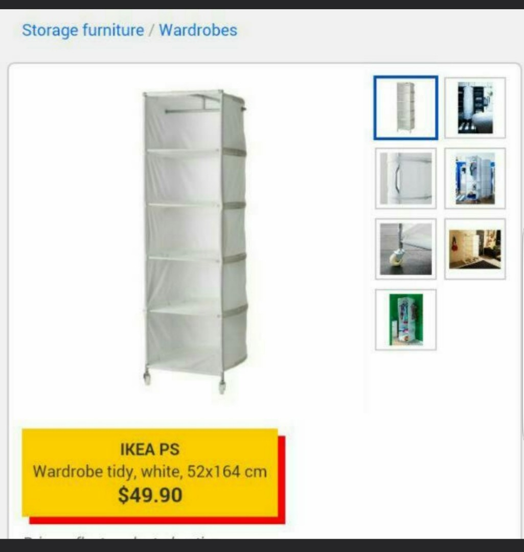 Ikea Wardrobe Tidy Ikea Ps Wardrobe Furniture Shelves Drawers On Carousell