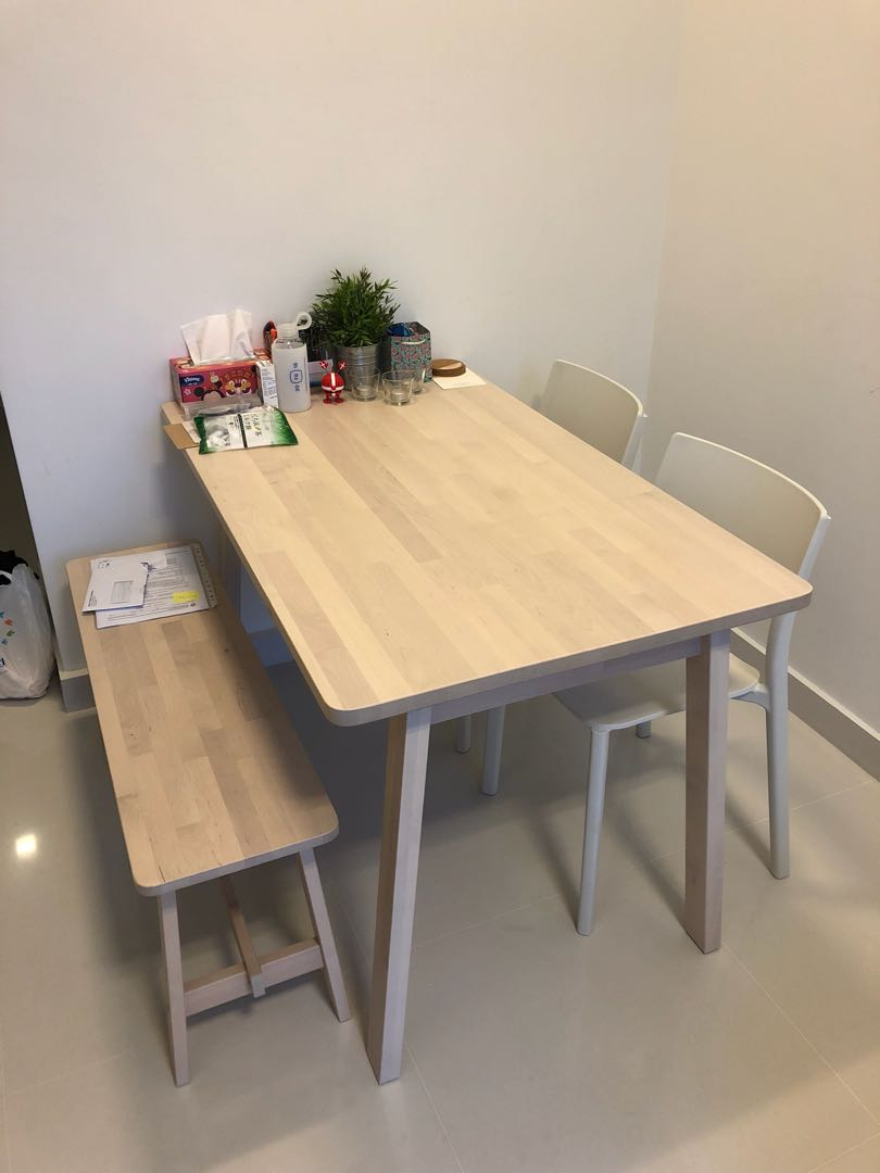 Ikea Dining Table Ikea Norraker Dining Set Table Bench 2x Chairs