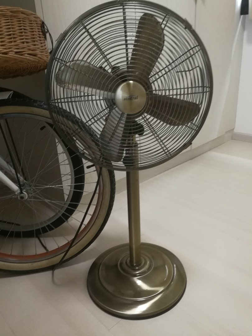 Vintage Looking Fan Vintage Looking Mistral Electric Fan In Copper Brass